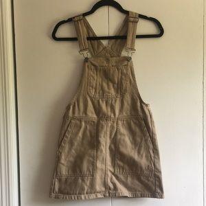 Pull&bear Tan Overalls Dress